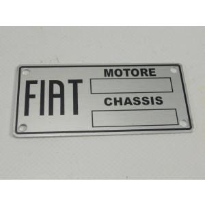 ETICHETTA IDENTIFICATIVA FIAT PER FIAT 500 A